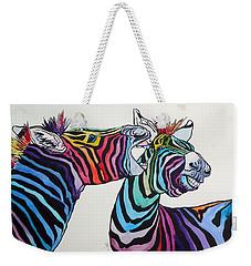 Funny Zebras Weekender Tote Bag