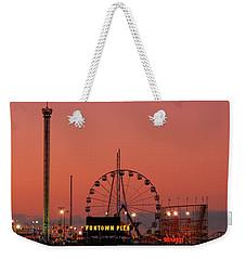 Funtown Pier At Sunset II - Jersey Shore Weekender Tote Bag