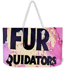 Weekender Tote Bag featuring the photograph Fur - Sign by Colleen Kammerer