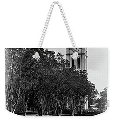 Furman University Bell Tower Greenville South Carolina Black And White Weekender Tote Bag