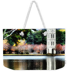 Furman University Bell Tower Weekender Tote Bag by Lynne Jenkins