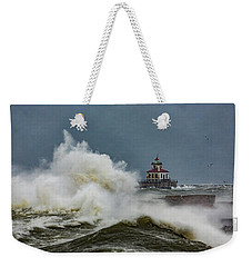 Weekender Tote Bag featuring the photograph Fury On The Lake by Everet Regal
