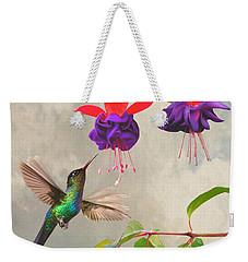 Fuchsia And Hummingbird Weekender Tote Bag