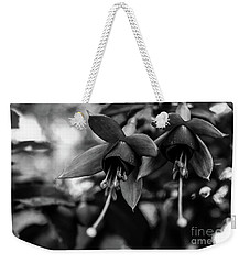 Fuchsia, Black And White Weekender Tote Bag