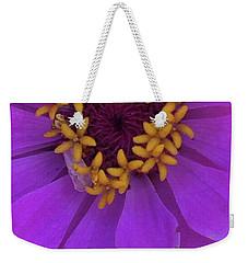 Fuschia Zinnia Weekender Tote Bag