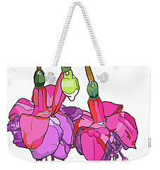 Fushia Weekender Tote Bag by Jamie Downs