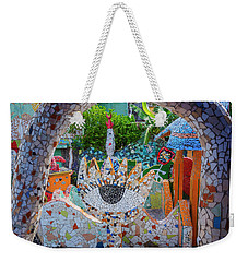 Weekender Tote Bag featuring the photograph Fusterlandia Havana Cuba by Joan Carroll