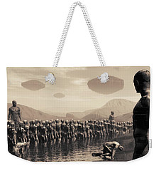 Future Cattle Weekender Tote Bag by John Alexander