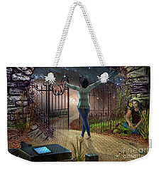 Weekender Tote Bag featuring the digital art Future Road by Shadowlea Is