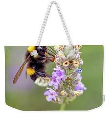 Fuzzy Bee Weekender Tote Bag
