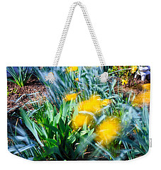 Fuzzy Daffodils Weekender Tote Bag by Allan Levin
