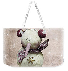 Fuzzy The Snowman Weekender Tote Bag
