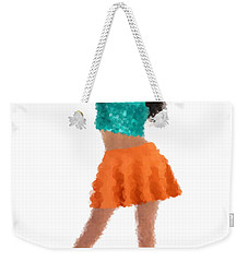 Weekender Tote Bag featuring the digital art Gaby by Nancy Levan