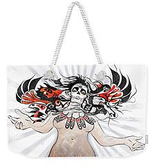 Gaia In Turmoil Weekender Tote Bag by Sassan Filsoof