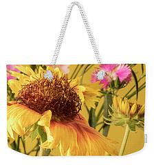 Gaillardia And Dianthus Weekender Tote Bag by Richard Rizzo