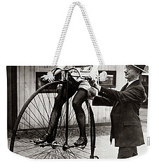 Gal On A Velocipede - Chicago 1922 Weekender Tote Bag