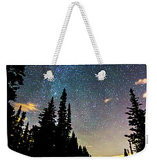 Weekender Tote Bag featuring the photograph  Galaxy Rising by James BO Insogna