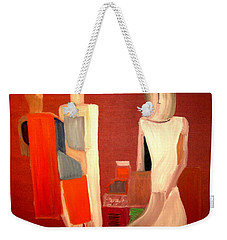 Weekender Tote Bag featuring the painting Galeries Lafayette by Bill OConnor