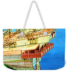 Galleon On The Reef 2 Filtered Weekender Tote Bag