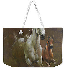Gallop In The Eyelash Of The Morning Weekender Tote Bag by Vali Irina Ciobanu