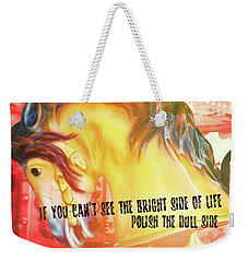 Galloper Quote Weekender Tote Bag
