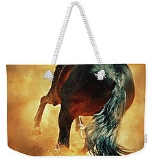 Galloping Horse In Fire Dust Weekender Tote Bag