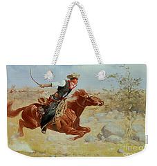 Galloping Horseman Weekender Tote Bag by Frederic Remington