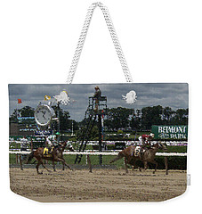 Weekender Tote Bag featuring the digital art Galloping Out Painting by  Newwwman