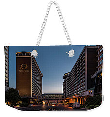 Weekender Tote Bag featuring the photograph Galt House Hotel And Suites by Randy Scherkenbach