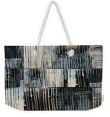 Weekender Tote Bag featuring the mixed media Galvanized Paint Number 1 Horizontal by Carol Leigh