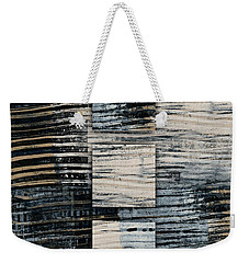 Weekender Tote Bag featuring the photograph Galvanized Paint Number 1 Vertical by Carol Leigh