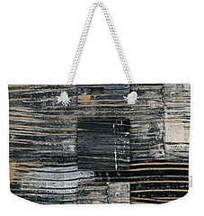 Weekender Tote Bag featuring the photograph Galvanized Paint Number 2 Vertical by Carol Leigh
