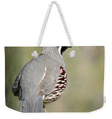 Gambel's Quail Weekender Tote Bag