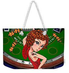Gambling Weekender Tote Bag by Jieming Wang