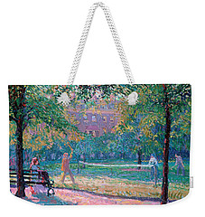 Game Of Tennis Weekender Tote Bag by Spencer Frederick Gore