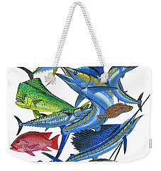 Gamefish Collage Weekender Tote Bag by Carey Chen