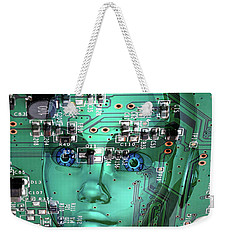 Weekender Tote Bag featuring the digital art Gamer by Anthony Murphy