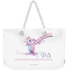 Gamma Phi Delta Splash Weekender Tote Bag
