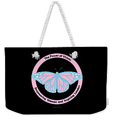 Gamma Phi Delta, The Power Of Vision Weekender Tote Bag