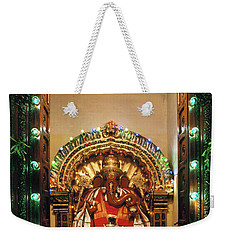 Weekender Tote Bag featuring the photograph Ganesh Shrine by Granger