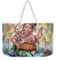 Ganesha Dancing And Playing Mridang Weekender Tote Bag