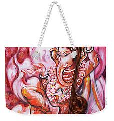 Ganesha - Enjoying Music Weekender Tote Bag