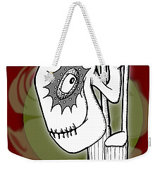 Weekender Tote Bag featuring the drawing Ganix by Uncle J's Monsters