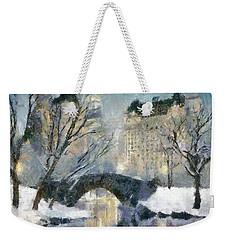 Gapstow Bridge In Snow Weekender Tote Bag by Dragica  Micki Fortuna