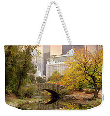 Weekender Tote Bag featuring the photograph Gapstow Bridge Reflections by Jessica Jenney
