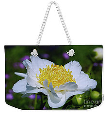 Weekender Tote Bag featuring the photograph Garden Beauty by Rachel Cohen