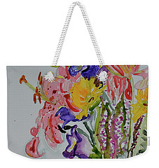 Weekender Tote Bag featuring the painting Garden Bouquet by Beverley Harper Tinsley