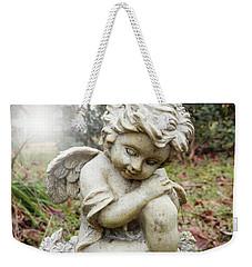 Spiritual Angel Garden Cherub Weekender Tote Bag