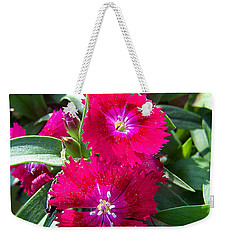 Weekender Tote Bag featuring the photograph Garden Delight by Sandi OReilly