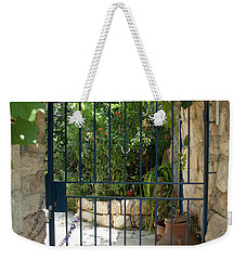 Garden Door Entrance Weekender Tote Bag by Yoel Koskas